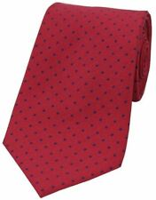 David Van Hagen Mens Pin Dot Polyester Tie - Red/Blue