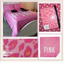 "Victoria's Secret Pink LEOPARD ""DUVET COVER"" BED BEDDING DORM REVERSIBLE TWIN XL"