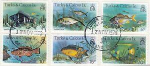 (85953) Turks & Caicos Used Fish 1978 ON PIECE