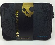 "Skullcandy Shattered Laptop Sleeve fits up to 16"" - Black/Blue - NEW"