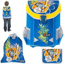 3 Teile Ranzen LEGO EASY Schulranzen Tornister 1-4.Klasse Ritter NEXO KNIGHTS BL