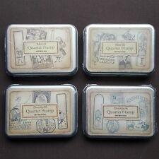 DISNEY lot de 4 boites de 4 tampons en bois ALICE 01 et 02 DOROTHY 03 et 04 NEUF