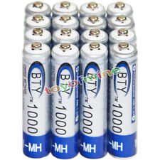 16x AAA battery batteries Bulk Nickel Hydride Rechargeable NI-MH 1000mAh 1.2V BT