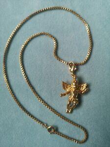 Kirks Folly Gold Tone Charm On Chain Necklace Fairy Angel Cherub Pendent