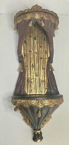 "Vintage Wall Hanging Sconce Shelf  / Altar chapel, statue urn 16"" x 9"" x 27"""