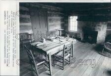 1970 W. C. Handy Birthplace Cabin Interior Florence Alabama Press Photo