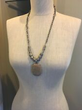 Earth Tones, Stone, Silver Indian Style Necklace