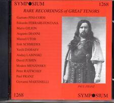 RARE RECORDINGS OF GREAT TENORS - PINI-CORSI - GILION ETC - SYMPOSIUM - SEALED