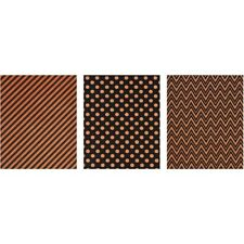 "Idea-Ology Adhesive Deco Sheets 5.75""X10"" 6/Pkg-Halloween Glitter -TH93599"
