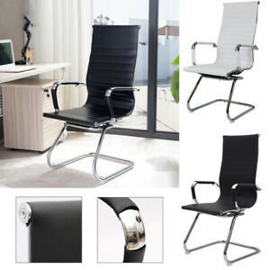 Upholstered High Back PU Leather Cantilever Office Chairs Gaming Desk Chair Home