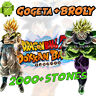 🌟 Android - Dokkan Battle - Gogeta AGL + Broly PHY 2000+ Dragon Stones - GLOB