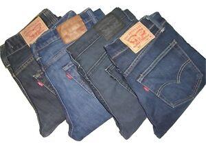 Mens LEVIS 511 Dark Blue Slim Fit Denim Jeans W30 W31 W33 W32 W34 W36 W38 W40