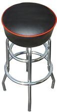 Black Bar Stool Stools Counter Top Chair Seat Rec Room Kitchen - Awesome - NIB