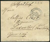 165/DP China Brief aus Lanfang Feldpost KD Feldpostexpedition b 8/7/01 Dudweiler