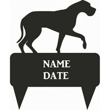Great Dane Rectangular Memorial Plaque