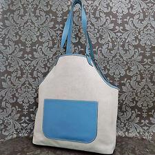 Rise-on HERMES Toile H Canvas Jardinier Light Blue Shoulder Tote bag #88
