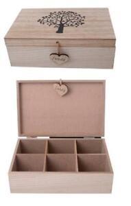 WOODEN FAMILY TREE OF LIFE TEA TRINKET JEWELLERY KEEPSAKE BOX gift wedding baby