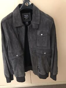 Bomber jacket grey suede Crooks and Castles as new