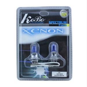 2x H3 Super White Xenon 12V 100W 5000K Car Headlight Bulb Auto Fog Lamp Lights