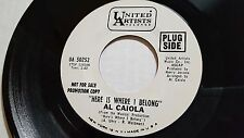"""AL CAIOLA Here is Where I Belong / The Sound of Music RARE PROMO 7"""" Jazz Lounge"""