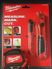 Milwaukee Set  5m Maßband magnetisch+ Inkzall Markierstift+ Cutter Messer AKTION