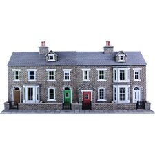 Low relief terraced house fronts stone OO/HO Card kit Metcalfe PO275 - Free Post