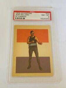 Boxing Trading Card 1956 Adventure PSA 8 Jess Willard Kansas 33 lost Jack Dempsy