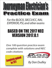 Journeyman Electrician Practice Exam Based on 2017 NEC