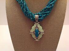 "Carolyn Pollack SS ""Refreshing"" Turquoise & Green Magnesite Enhancer"