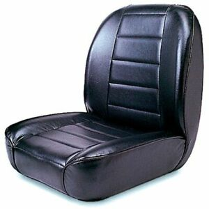Rugged Ridge 1340001 Low-Back Front Seat Non-Recline Black For 55-86 Jeep CJ NEW