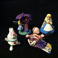 Disney ALICE IN WONDERLAND Ceramic Resin Figurines Ornament Set Of 4