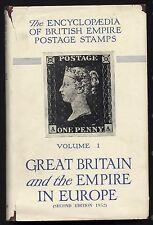 Enciclopedia de imperio británico de 1952 Estampillas Postales-Gran Bretaña Vol 1