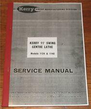 "Kerry 11"" Lathe Manual"