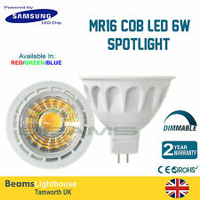 MR16 Samsung LED CHIP 6W 120⁰ COB LED RED/GREEN/BLUE Lamp bulb Downlight 6W=50W
