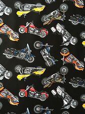 KANVAS Man Grotta Motocicletta Moto Harley tessuto di cotone nero per Mezzo Metro