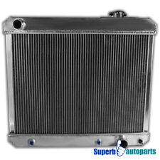 For 63-66 Chevy GMC C/K 3-Row Tri-Core Racing Aluminum Cooling Radiator