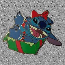 Stitch in Christmas Gift Box Pin - Disney Mall Japan - DISNEY LE 250