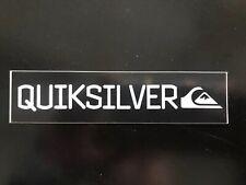 "Quiksilver BLACK Bar Sticker 5"" - Retro - Surf Skate Snow Decal- BlACK /White"