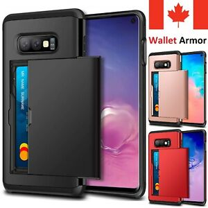 For Samsung Galaxy S20 FE S10 S9 S8 Note 20 10 Plus Case Card Wallet Armor Cover