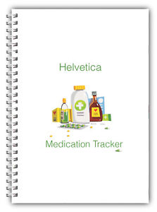 NEW A5 PERSONALISED MEDICATION RECORD LOG BOOK DIARY PLANNER GIFT 100 PAGES 03