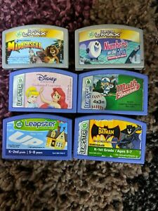 Lot of 10 Leap Frog Leapster Learning Games Cartridges Disney Dora Up