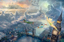"""Peter Pan.Flying over London. Reproduction.Print on Canvas 20""""x 30"""""""