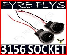 3156 Bulb Socket Brake Turn Signal Light Harness Wire LED Pig Tail Plug