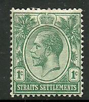 Album Treasures Straits Settlement Scott # 149  1c George V Mint Hinged