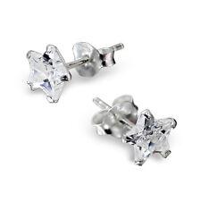 Calidad Pendientes De Plata Esterlina 925 - CZ Tachuelas Estrellas 6mm