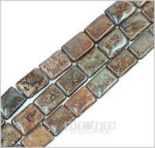 "15.7"" Bronzite Flat Rectangle Beads 13x18mm #11042"