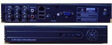 REGISTRATORE DVR 4 CANALI VIDEOSORVEGLIANZA LAN USB CONTROLLO DA CELLULARE E WEB