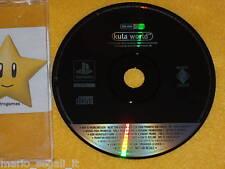 PSX: KULA WORLD  Playstation 1 versione PAL Version PROMO RARE NEW PS SONY