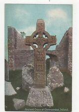 Ancient Cross At Clonmacnoise Ireland Vintage Postcard 243a