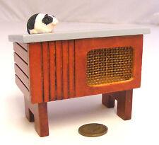 1.12 échelle en bois hutch avec un cochon d'Inde maison de poupées miniature accessoire pour animaux de compagnie